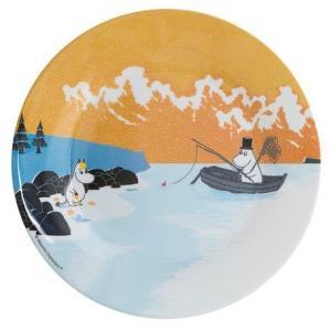 Moomin/ムーミン Ratt Start  メラミンプレートNORDIC SUMMER SKIE オレンジ プレート キッズ 食器 メラミン食器 メラミン 皿 ムーミン moomin 北欧 原画|niconomanimani