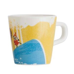 Moomin/ムーミン Ratt Start メラミンカップNORDIC SUMMER SKIE イエロー マグカップ  キッズ 食器 メラミン食器 メラミン コップ ムーミン moomin 北欧|niconomanimani