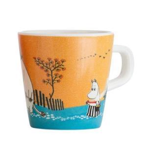 Moomin/ムーミン Ratt Start  メラミンカップNORDIC SUMMER SKIE オレンジ マグカップ キッズ 食器 メラミン食器 メラミン コップ ムーミン moomin 北欧|niconomanimani