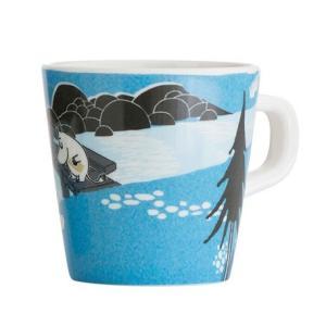 Moomin/ムーミン Ratt Start  メラミンカップNORDIC SUMMER SKIE ブルー マグカップ キッズ 食器 メラミン食器 メラミン コップ ムーミン moomin 北欧|niconomanimani