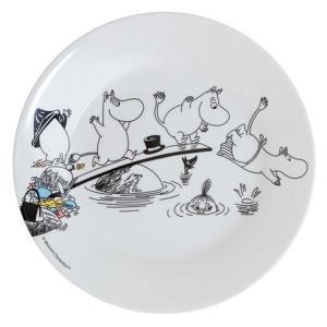 Moomin/ムーミン Ratt Start  メラミンプレートムーミンスイミング プレート キッズ 食器 メラミン食器 メラミン 皿 ムーミン moomin 北欧 原画|niconomanimani