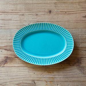 SAKUZAN/作山窯 Stripe オーバルプレート 大皿|niconomanimani