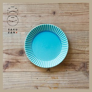 SAKUZAN/作山窯 Stripe 丸皿 M 中皿