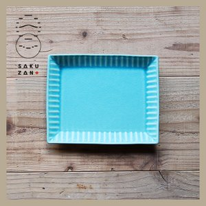 SAKUZAN/作山窯 Stripe トーストプレート 長角皿|niconomanimani