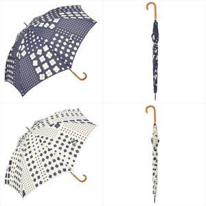 傘 雨傘 レディース 長傘 晴雨兼用 ジャンプ 花 ドット ニフティカラーズ|niftycolors