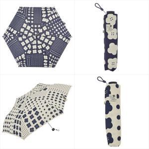 傘 雨傘 レディース 折りたたみ傘 晴雨兼用 花 ドット ニフティカラーズ|niftycolors