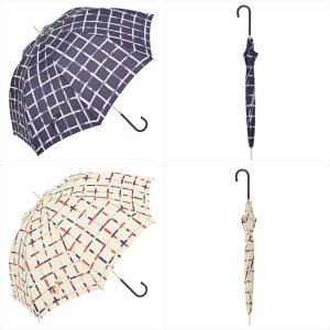 傘 雨傘 レディース 長傘 晴雨兼用 チェック 総柄 ニフティカラーズ|niftycolors
