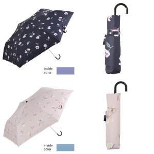 日傘 レディース 晴雨兼用 折りたたみ傘 遮光 遮熱 マグノリア フラワー ニフティカラーズ niftycolors
