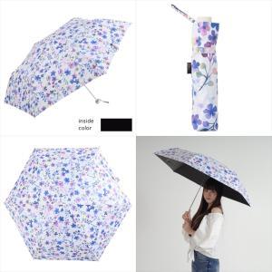 日傘 レディース 晴雨兼用 折りたたみ傘 遮光 遮熱 丈夫 耐風 大きめ モーブ フラワー ニフティカラーズ niftycolors