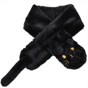 【公式】 レディース 婦人 ギフト プレゼント 防寒用品 ネックウォーマー 動物 ねこ ネコ 猫 黒 ブラック BLACKニフティカラーズ|niftycolors