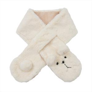 【公式】 レディース 婦人 ギフト プレゼント 防寒用品 ネックウォーマー アニマル 動物 くま クマ 熊 白 WHITE ニフティカラーズ|niftycolors