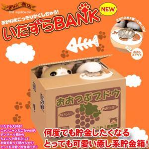 いたずらBANK 貯金箱 チャトラ 【 いたずらバンク いたずらBANK 猫貯金箱 イタズラバンク ちゃとら 】|nigiwaishouten