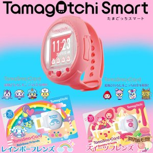 【セット】Tamagotchi Smart Coralpink / たまごっちスマート コーラルピンク + たまスマカード レインボーフレンズ & スイーツフレンズ 〔予約:11月下旬〕|nigiwaishouten