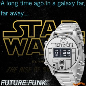 STAR WARS Roller watch by FUTURE FUNK metal band model(R2-D2) スターウォーズ 腕時計|nigiwaishouten