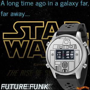 STAR WARS Roller watch by FUTURE FUNK rubber band model(R2-D2) スターウォーズ 腕時計|nigiwaishouten