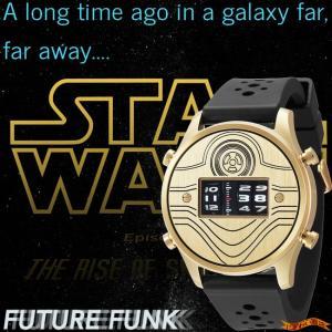 STAR WARS Roller watch by FUTURE FUNK rubber band model(C-3PO) スターウォーズ 腕時計|nigiwaishouten