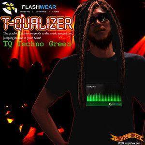 Tシャツイコライザー 音で超光るTQ Techno Green|nigiwaishouten
