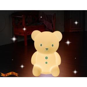 Silicone Light up bear くまのおやすみライト BL (ブルー) 〔予約:2〜5営業日程〕|nigiwaishouten|03