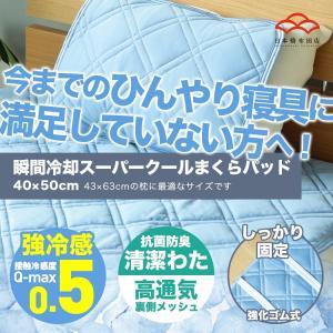 ひんやりマット 強冷感まくらパッド スーパークール Q-max値0.5 シングルサイズ 抗菌防臭・高通気・ムレにくく快適な夏用枕パッドの写真