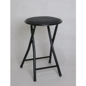 折りたたみ パイプ椅子 丸椅子 フォールディングチェア ローチェア イス 会議椅子 軽量 ブラック ...