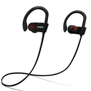 Bluetooth スポーツイヤホン 高音質 ノイズキャンセリング 防水 防汗 軽量 耳掛け式 ケース付き iPhone/ipad/Android適用 TS-GS01|nihon-s