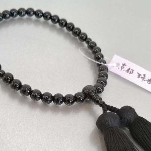 「黒オニキス」正絹古都房付き 数珠 女性用|nihondou-webshop