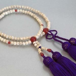 数珠 浄土真宗 大谷派 女性用 星月菩提珠 瑪瑙入り 数珠 浄土真宗|nihondou-webshop
