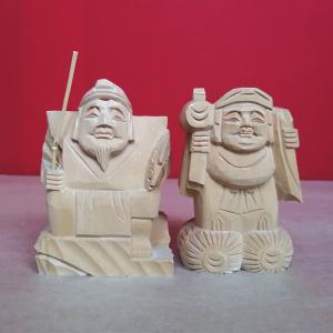 アウトレット 在庫処分「恵比寿大黒天」七福神 木彫 仏像 nihondou-webshop