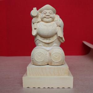 アウトレット 在庫処分「大黒天 6寸」七福神 木彫 仏像 nihondou-webshop
