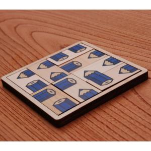 ¥1000ポッキリ!木製パズル ASOBIDEA アソビディア 絵合わせ 日本製 国産材 知育玩具 木のおもちゃ 脳トレ【ペンシルパズル ブルー】 nihonmokki
