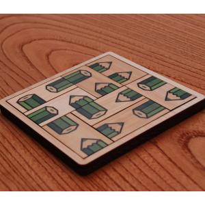 ¥1000ポッキリ!木製パズル ASOBIDEA アソビディア 絵合わせ 日本製 国産材 知育玩具 木のおもちゃ 脳トレ【ペンシルパズル グリーン】 nihonmokki