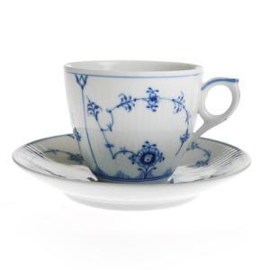 ウィンターSALE / ロイヤルコペンハーゲン ブルーフルーテッド プレイン コーヒーカップ&ソーサー 101-071|nihonnotsurugi
