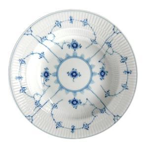 ロイヤルコペンハーゲン ブルーフルーテッド プレイン スーププレート 23cm 101-605|nihonnotsurugi
