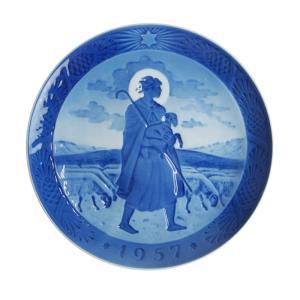 ロイヤルコペンハーゲン 1957年 イヤープレート よき羊飼い / 送料無料祭|nihonnotsurugi