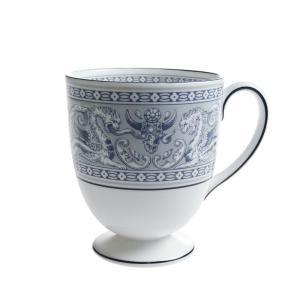 ウェッジウッド フロレンティーン インディゴ ホワイト マグカップ リー|nihonnotsurugi