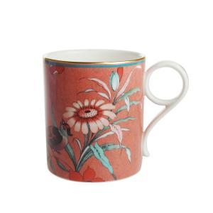 ウェッジウッド ペオニア ブラッシュ マグカップ コーラル|nihonnotsurugi