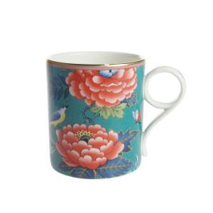 ウェッジウッド ペオニア ブラッシュ マグカップ グリーン|nihonnotsurugi