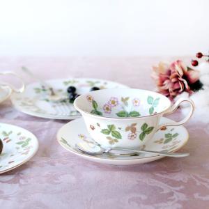 ウェッジウッド ワイルドストロベリー ティーカップ &ソーサー ピオニー|nihonnotsurugi