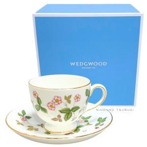 ウェッジウッド ワイルドストロベリー ティーカップ&ソーサー リー|nihonnotsurugi