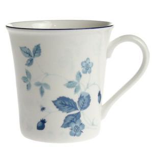 ウェッジウッド ( WEDGWOOD ) ストロベリーブルー マグカップ ビーカーデルフィー|nihonnotsurugi