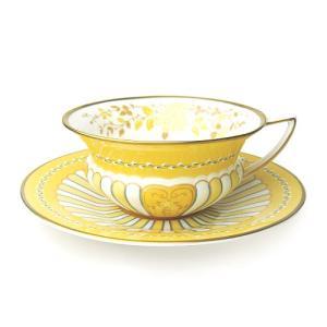 ウィンターSALE / ウェッジウッド ハーレクイン コレクション イエローリボン ティーカップ&ソーサー / 包装不可|nihonnotsurugi
