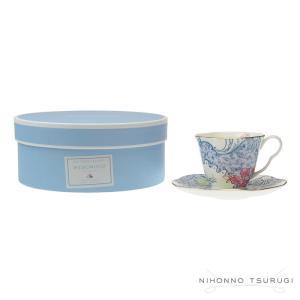 ウェッジウッド バタフライブルーム ティーカップ&ソーサー ブルー&ピンク|nihonnotsurugi