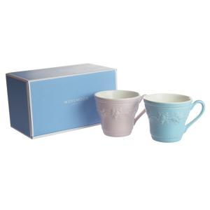 ウェッジウッド  フェスティビティ ブルー&ピンク マグカップ 300ml ペアセット|nihonnotsurugi