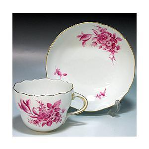 マイセン ( Meissen ) パープルブーケ コーヒーカップ&ソーサー 582|nihonnotsurugi