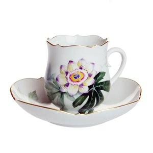 マイセン 水辺の草花 コーヒーカップ&ソーサー 500310/23582 NO.4|nihonnotsurugi