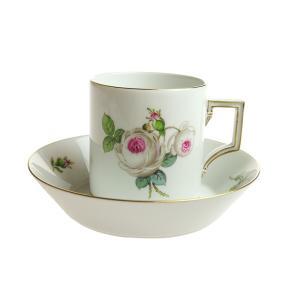 マイセン ホワイトローズ コーヒーカップ&ソーサー 029510/55895|nihonnotsurugi