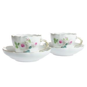 マイセン ホワイトローズ コーヒーカップ&ソーサー ペアセット 029510/C0004|nihonnotsurugi