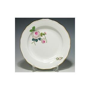 マイセン (Meissen) 白いバラ −White Rose− プレート 20cm|nihonnotsurugi