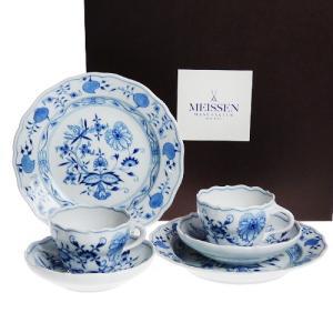 マイセン (Meissen) ブルーオニオン コーヒー ペアセット c0003|nihonnotsurugi