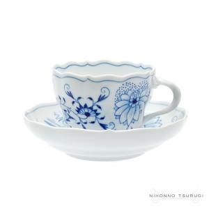 マイセン ブルーオニオン コーヒーカップ&ソーサー 0582|nihonnotsurugi